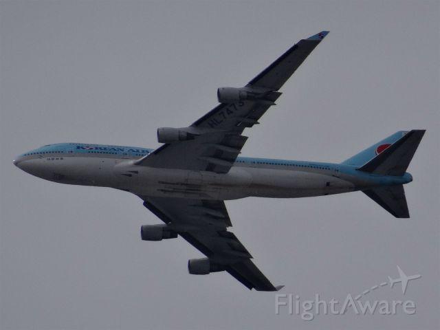 Boeing 747-400 (HL7473) - HL7473 Korean Air Linesbr /18.3 Yearsbr /Boeing 747-400 (quad-jet) (H/B744/L)br /15-Mar-2015 B744 Incheon Intl (RKSI / ICN) Los Angeles Intl (KLAX) 15:38 KST 09:25 PDT 9:47