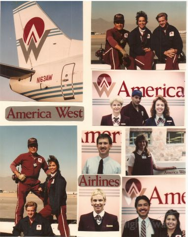 — — - The Good Old Times: America West Airlines in ELP. I miss those days...
