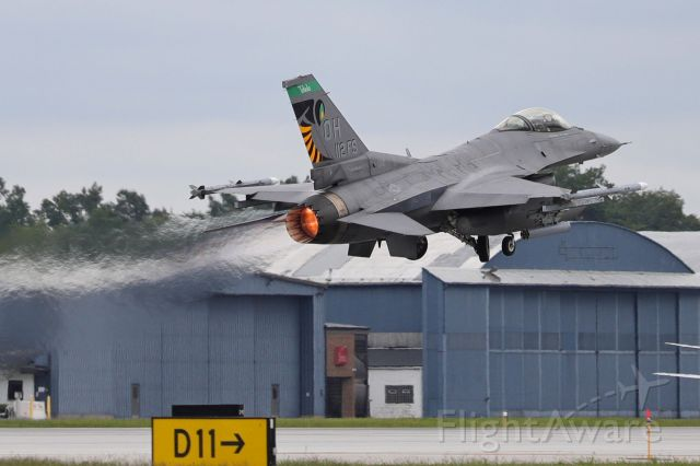 Lockheed F-16 Fighting Falcon (89-2112) - The dreary skies made for some nice afterburner shots earlier this week. Here's the flagship of the #112fs, 180fw, OH Air Guard, burning it up on takeoff (16 Aug 2021).