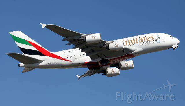 Airbus A380-800 (A6-EDD) - Departing 34L