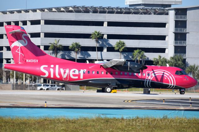 Aerospatiale ATR-42-600 (N401SV) - N401SV (Fast In Fuscia/Bandit) operating as SIL135 from Tampa International (TPA) to Key West (EYW)br /br /• Delivered to Silver Airways - March 2019br /• Configured with 46 Economy seats