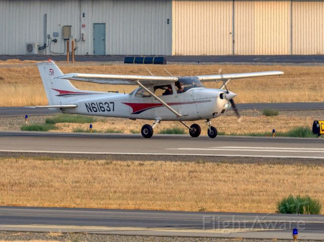 Cessna 170 (N61637) - Cessna 172M at Livermore Municipal Airport, Livermore CA. August 2020
