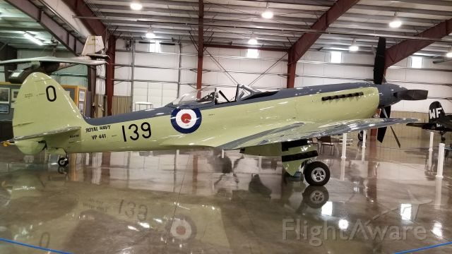 N47SF — - This Supermarine Spitfire is located in Montana in a private collection at the Crystal Lakes Resort.