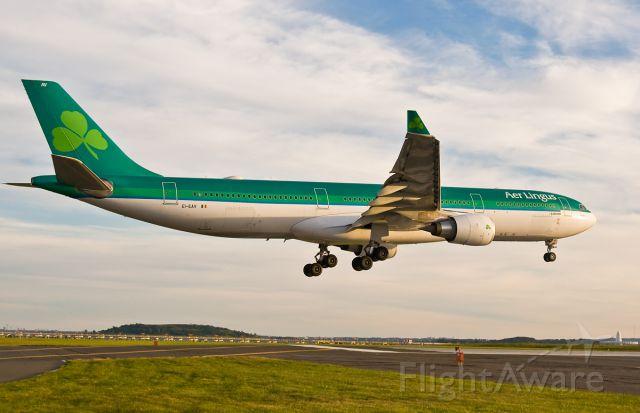 Airbus A330-300 (EI-EAV) - Shamrock  as St. Ronan - EI-EAV arriving at the Hub of Boston !