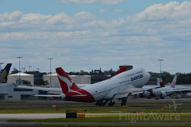 Boeing 747-400 (VH-OJU) - VH-OJU Qantas Boeing 747-438 3rd Dec 2017