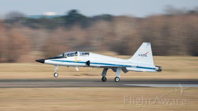 Northrop T-38 Talon (N907NA) - Astronaut Jessica Meir conducts some flight training at KEFD on 2/18/2021
