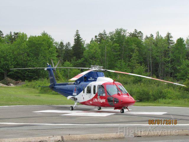 C-GIMN — - Parked on helipad at Bridgwater Hospital, Bridgewater NS