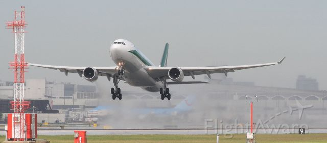 """Airbus A330-200 (EI-EJJ) - Check out our aviation videos with 100% authentic and non-leveled sound! <a rel=""""nofollow"""" href=""""http://youtube.com/ilikerio"""">https://youtube.com/ilikerio</a><br /><br />Alitalia A330-200 lifting off of a wet runway 27 at KMIA."""