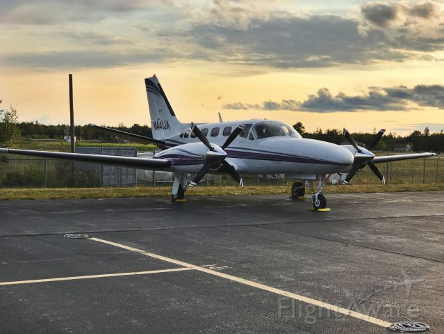 Cessna Conquest 2 (N441JA) - Incoming sunset on the ramp.