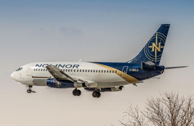 Boeing 737-200 (C-GNLN) - Nolinor 737-2B6C/Adv on very short finals for runway 23 at YYZ
