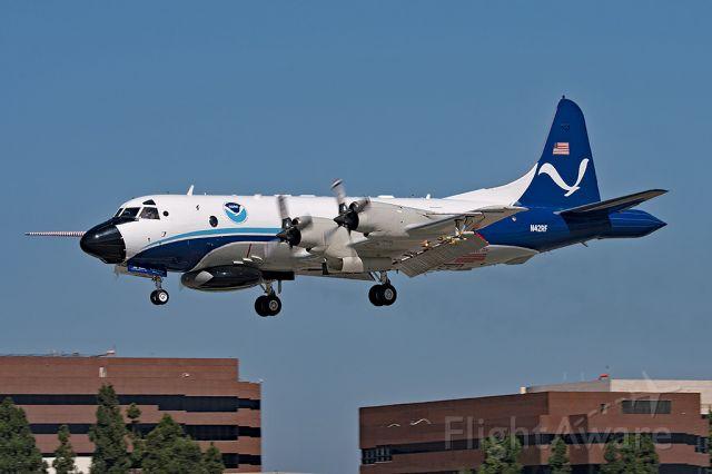 "N42RF — - NOAA42 arriving at Long Beach after checking Hurricane ""Lane"" in Hawaiian waters."