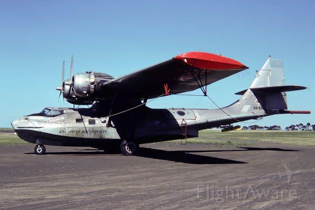 Cessna Citation Sovereign (VH-EXG) - EXECUTIVE AIR SERVICES - CATALINA - PBY5A - REG : VH-EXG (CN CV-369) - ESSENDON MELBOURNE VIC. AUSTRALIA - YMEN 17/11/1984 35MM SLIDE CONVERSION USING A LIGHTBOX AND A NIKON L810 DIGITAL CAMERA IN THE MACRO MODE.