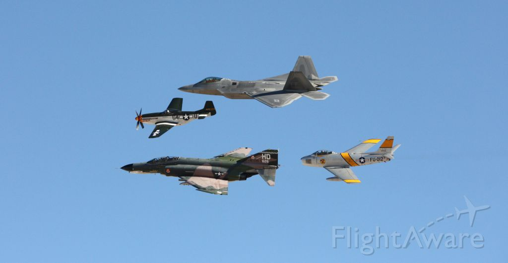 — — - Heritage flight at Aviation Nation