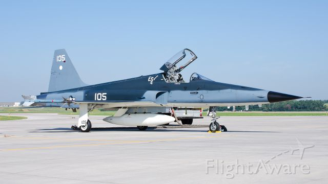 76-1547 — - US Navy F-5N from VFC-111, KFSD 08-25-2013<br />Officially, this is the 29th aircraft wearing a CoNA scheme now and represents a F6F-3 Hellcat from VF-11 Sundowners