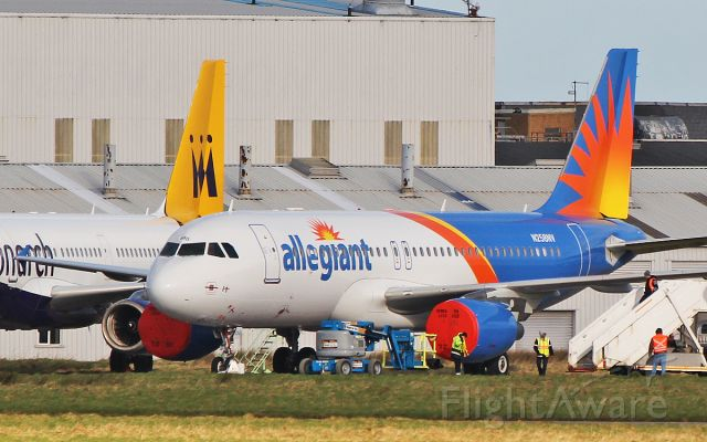 Airbus A320 (N258NV) - allegiant air a320-214 now with new reg n258nv at shannon 1/2/18.