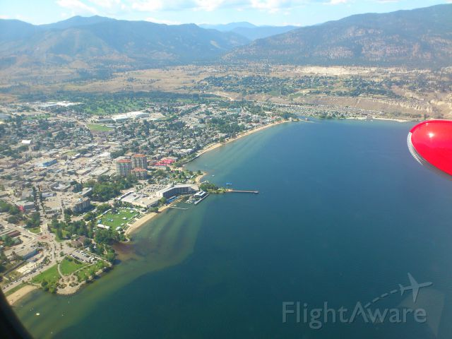 REPUBLIC Seabee (N64PN) - Over Okanagan Lake, joining downwind for 34. Penticton Airport, Canada CYYF Aug 2013. Republic R-34 Seabee