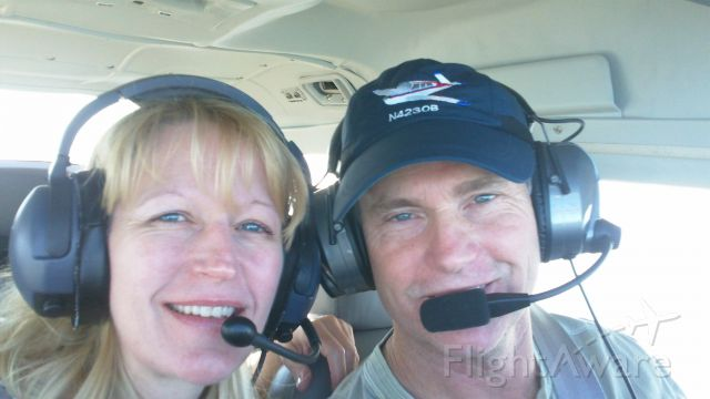 Cessna Turbo Skylane RG (N4428R) - Lisa and I over St. Augustine, Florida:  Our favorite destination