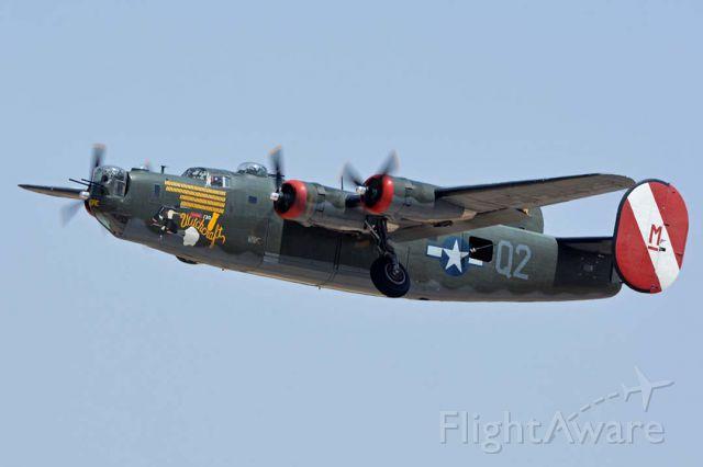 Consolidated B-24 Liberator (N224J) - Collings Foundation Consolidated B-24J Liberator N224J Witchcraft at Phoenix-Mesa Gateway Airport on April 15, 2016.