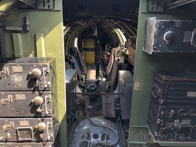 Boeing B-17 Flying Fortress (23-1909) - B-17,looking back into belly turret & side gun positions.  At Springfield, IL. 2018. Army Air Corps,. A piece of history.