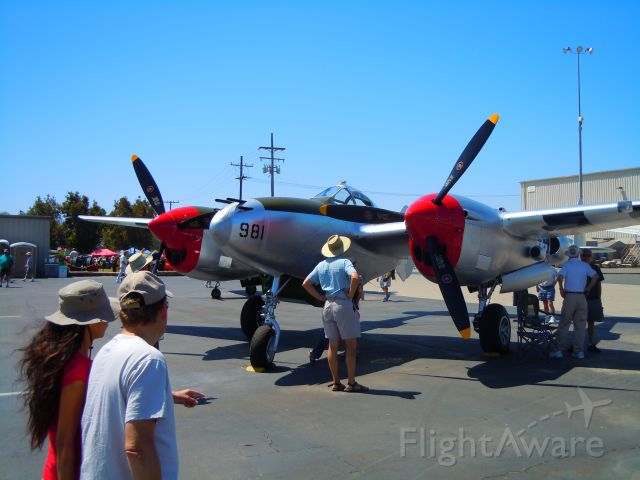Lockheed P-38 Lightning — - P-38 at Camarillo airport airshow 8/21/10