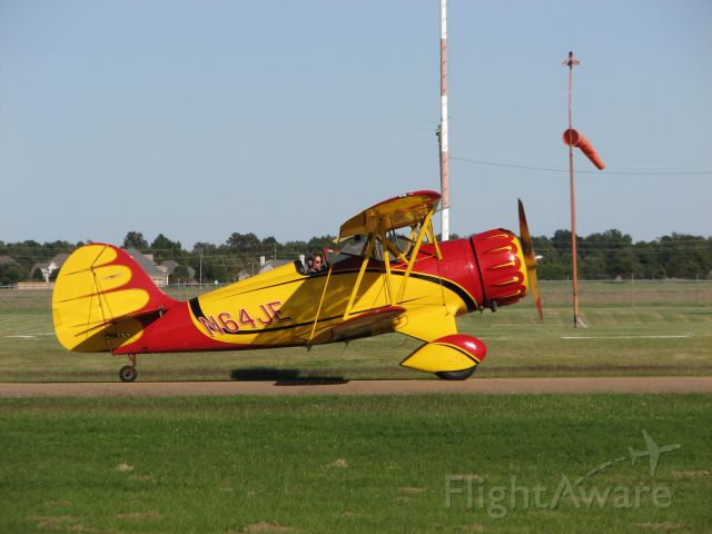 WACO O (N64JE) - A beautiful Waco biplane taxis by at Cleveland Municipal Airport.
