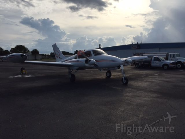 Cessna 310 (N8006M) - 1964 C310-I at KCRG Returned from Flight to Nassau Bahamas 8-2016
