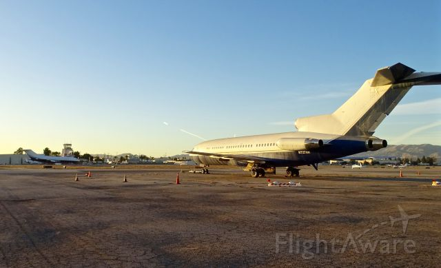 Boeing 727-100 (N727AH) - Sistership VP-BAP visible in the background. Where else can you get 2 727-100 in a single photo?