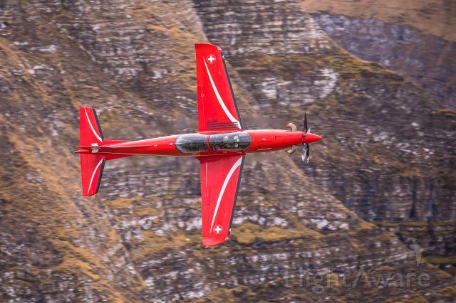Pilatus PC-21 (A106) - Swiss Air Force<br />Pilatus PC-21 (A-106) at Axalp shooting range