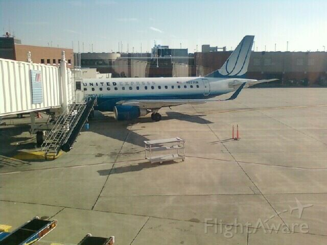 Embraer 170/175 (TCF7585) - The best angle my wife could get at KDSM.