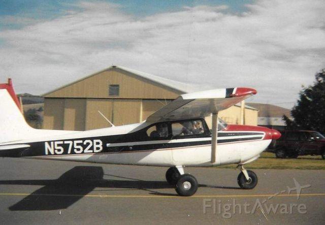 Cessna Skylane (N5752B) - Tanken at the Rohnerville Airport circa 1992