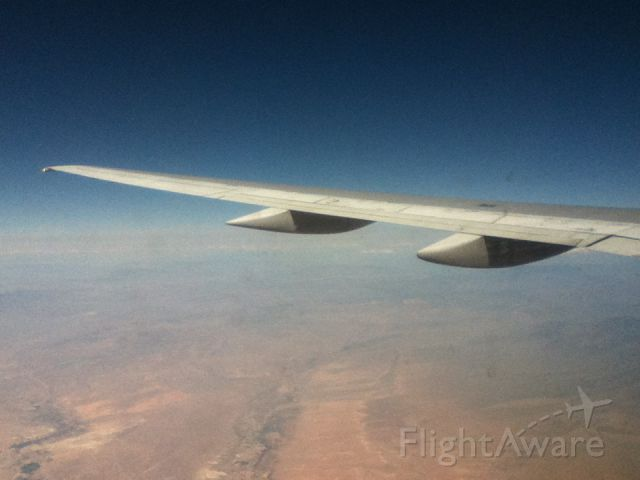 Boeing 757-200 — - Flying over Mohabi Desert.
