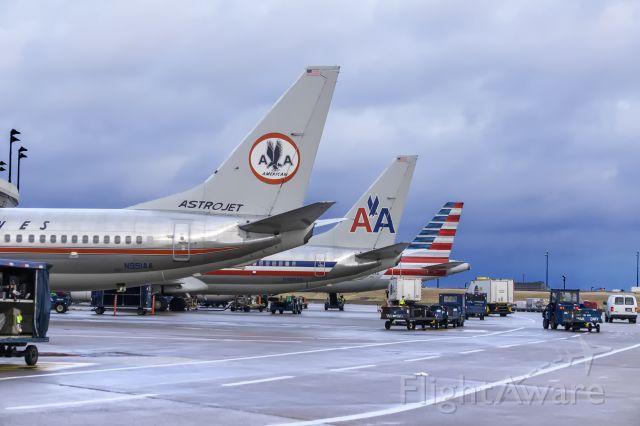 Boeing 737-800 (N951AA) - Three generations of logos 1962-1967, 1967-2013, 2013-Present