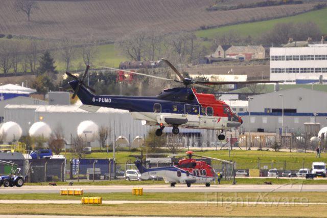 TUSAS Cougar (G-PUMO) - CHC Scotia Eurocopter AS-332L2 Super Puma G-PUMO in Aberdeen heliport