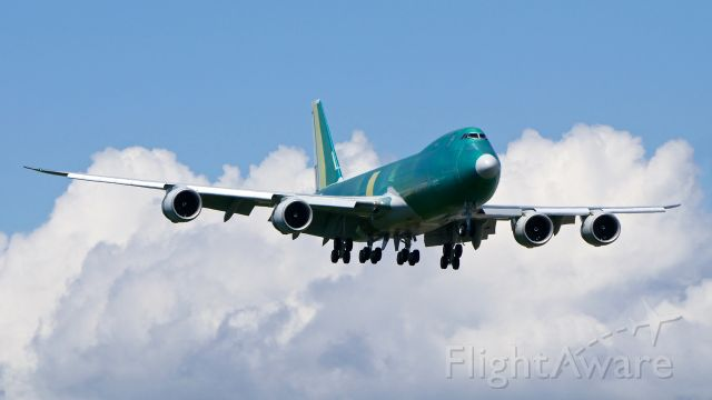 BOEING 747-8 (N616UP) - BOE681 on final to Rwy 16R to complete a B1 flight on 6.8.19. (B747-8F / ln 1554 / cn 64262).