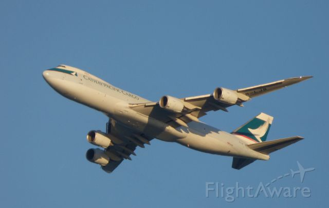 BOEING 747-8 (B-LJB) - Shown here is this Cathay Pacific Cargo Boeing 747 off the coast of Monmouth NJ in the Winter of 2016.