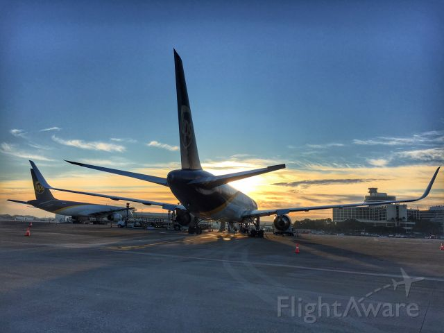 BOEING 767-300 — - UPS 767 and 757 during sunrise at TPA.