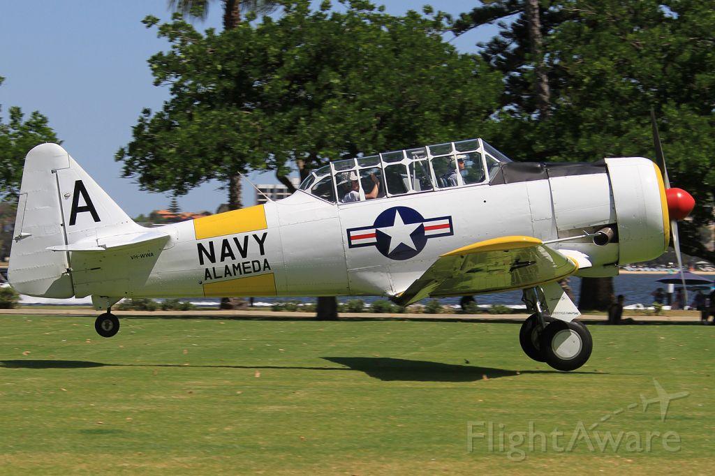 North American T-6 Texan (VH-WWA) - 2015 Langley Park Fly In , Perth City, Western Australia