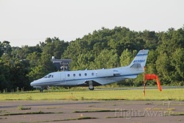 Cessna Citation Excel/XLS (N590AK) - Taxing off runway 2