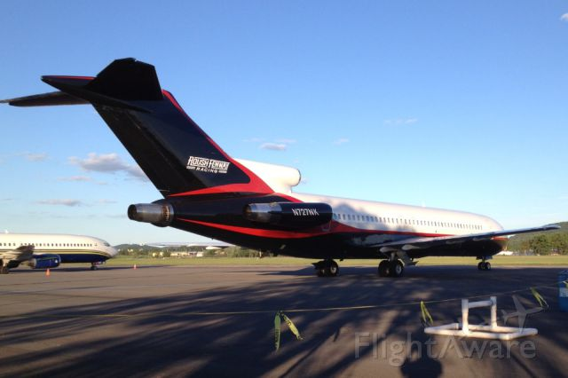 Boeing 727-100 (N727NK) - Roush Fenway's privet 727 in Elmira, NY for the races.