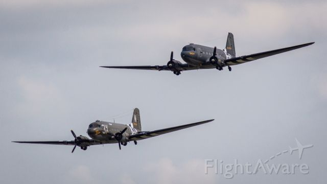 Douglas DC-3 — - DC3s formation flying at Airventure 2021