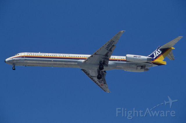 McDonnell Douglas MD-81 (JA8553) - Final Approach to Tokyo-Haneda Intl Airport Rwy16L on 1994/08/16