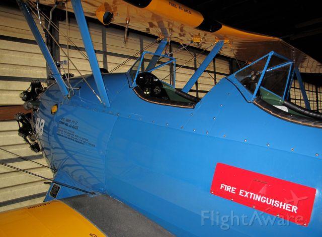 Cessna Skyhawk (N5222) - It is a Stearman E75 from 1940. Looks like ot of the shop.
