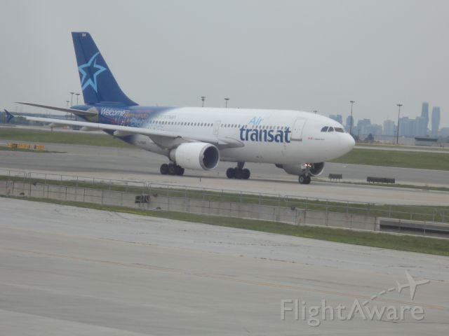 Airbus A310 (C-GSAT) - Air Transat Flight TS467 taxing to gate at terminal 3, after landing at YYZ.