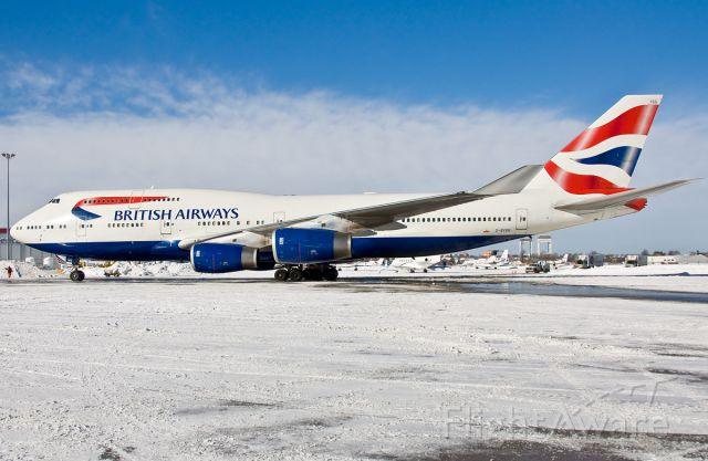 Boeing 747-400 (G-BYGG) - The Queen has arrived !