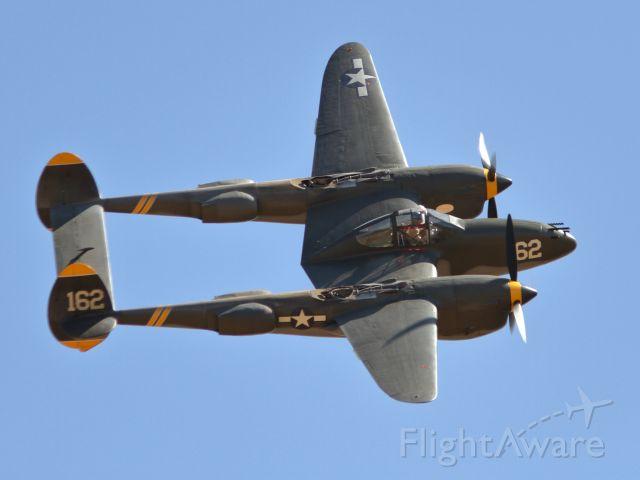Lockheed P-38 Lightning (NX138AM) - California Capital Airshow - 10/01/16<br />Lockheed P-38 Lightning
