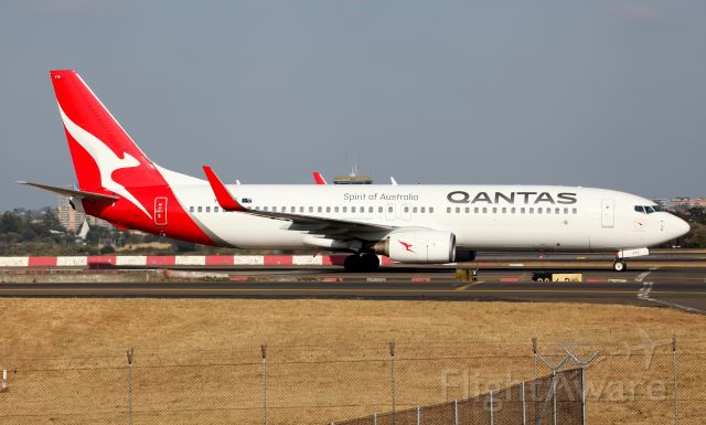 """Boeing 737-800 (VH-VYE) - """"Alice Springs"""" Taxi-ing To T3"""