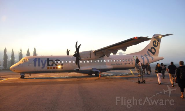 ATR ATR-72 (OH-ATG) - Flybe Nordic ATR 72-500 (72-212A) OH-ATG leaving early in the morning from  Tampere