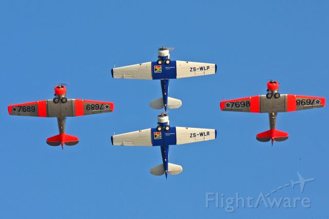 North American T-6 Texan — - Close formation
