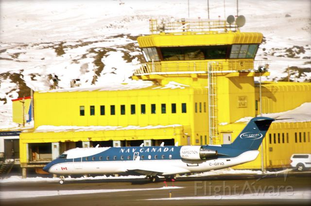 Canadair Regional Jet CRJ-200 (C-GFIO) - It was a beautiful day in Iqaluit, Nunavut. Plane Just came in from Deer Lake, Newfoundland