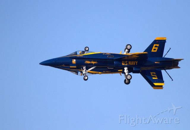 16-3435 — - Blue Angel Five 162826 and Six 163435 in a maneuver called Fortus. This mirror image flight is only performed by the Blue Angels. This photo was taken at the 2011 Homecoming Show at Naval Air Station Pensacola on 11 November 2011.